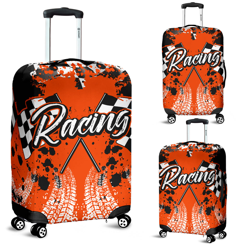 Racing Luggage Cover Red With FREE SHIPPING!