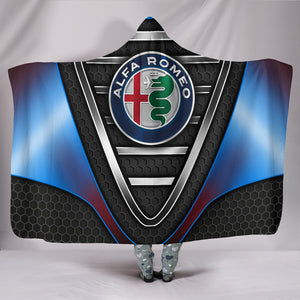 Alfa Romeo Hooded Blanket Blue With FREE SHIPPING TODAY!
