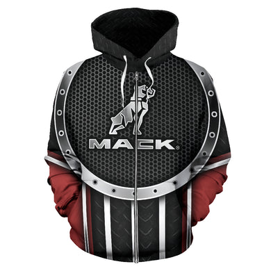 Mack All Over Print Zip Up Hoodie