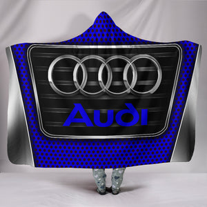 Audi Hooded Blanket Blue With FREE SHIPPING TODAY!