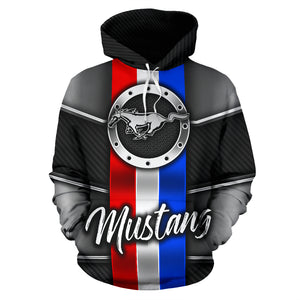 Mustang All Over Print Hoodie With FREE SHIPPING TODAY!