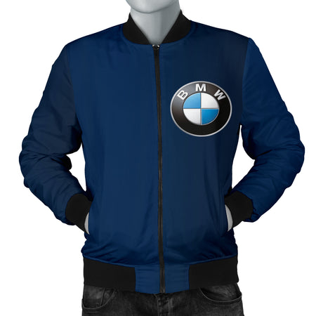 BMW Men's Bomber Jacket Blue
