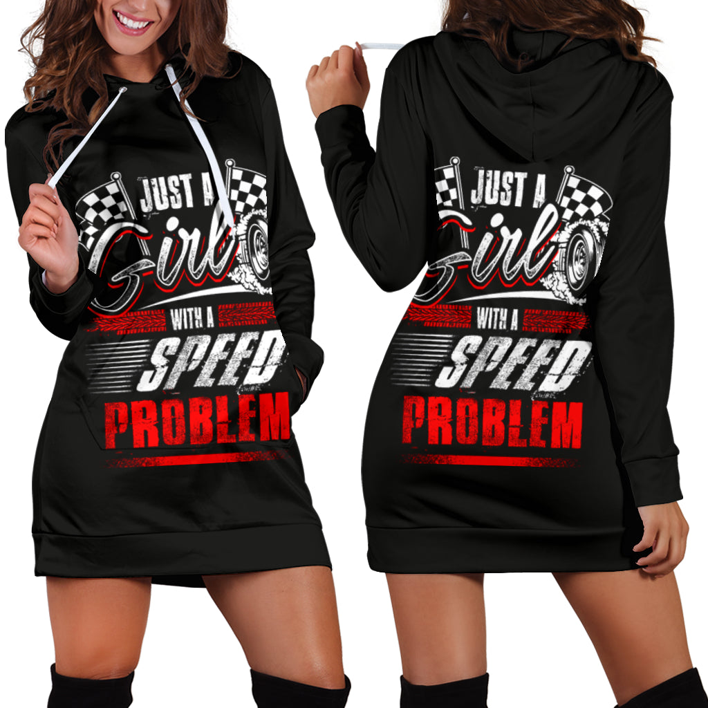 Just A Girl With Speed Problem Racing Dress
