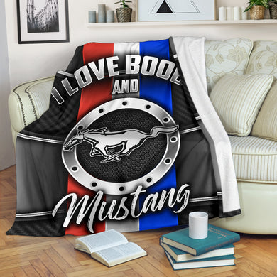 I Love Boobs And Mustang Blanket With FREE SHIPPING!