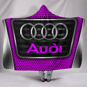 Audi Hooded Blanket Pink With FREE SHIPPING TODAY!