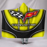 Corvette C6 Hooded Blanket Yellow With FREE SHIPPING TODAY!