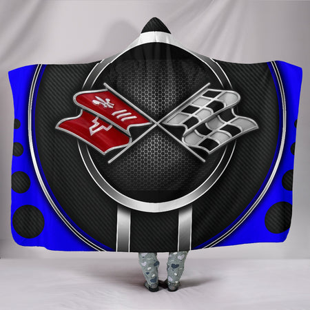 Corvette C3 Hooded Blanket Blue With FREE SHIPPING TODAY!