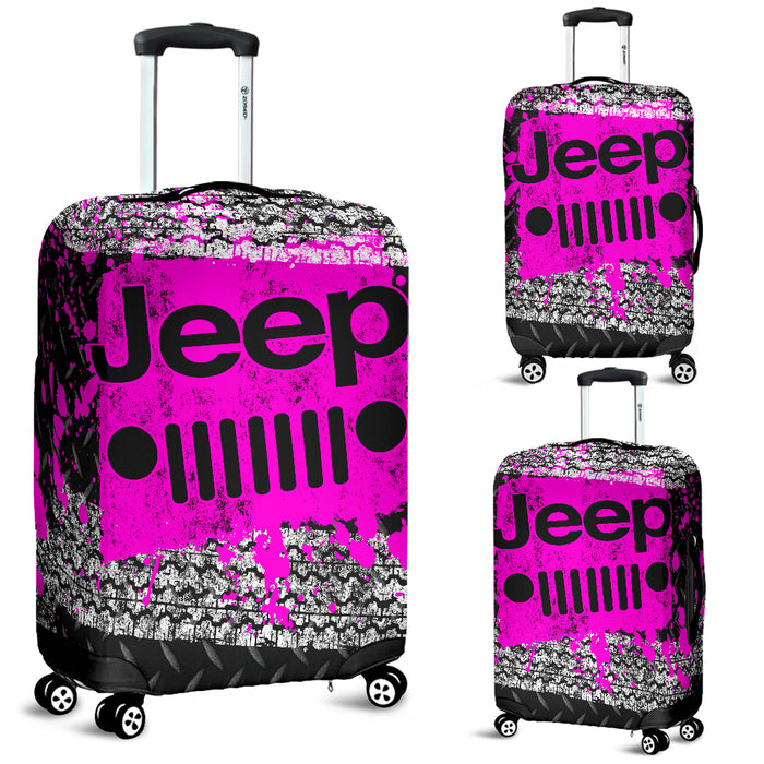 Jeep Luggage Cover Pink With FREE SHIPPING!