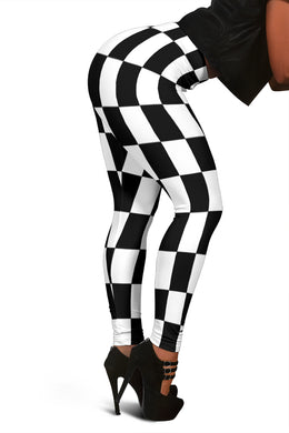 Racing Checkered Flag Leggings