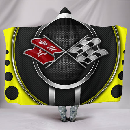 Corvette C3 Hooded Blanket Yellow With FREE SHIPPING TODAY!