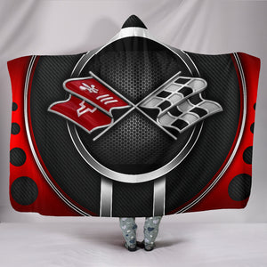Corvette C3 Hooded Blanket Red With FREE SHIPPING TODAY!