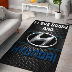I Love Boobs And Hyundai Rug With FREE SHIPPING!
