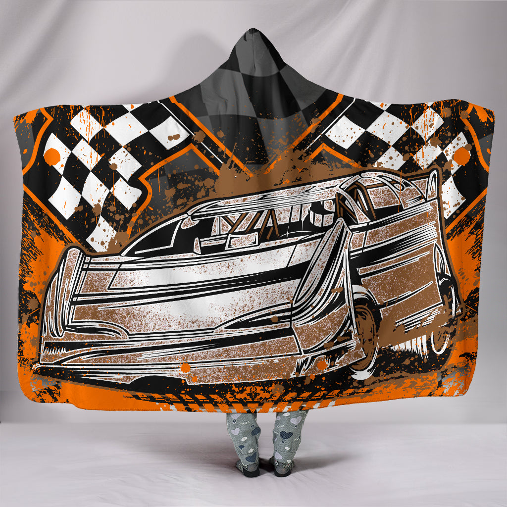 Dirt Track Racing Hooded Blanket With FREE SHIPPING TODAY!