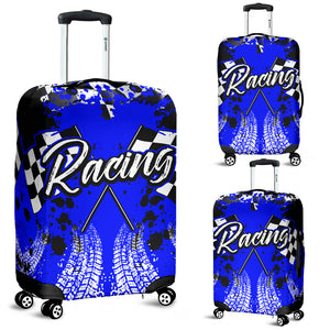 Racing Luggage Cover Blue With FREE SHIPPING!