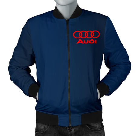 Audi Men's Bomber Jacket Blue