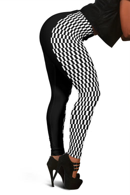 Racing Checkered Leggings Mixed