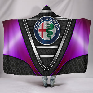Alfa Romeo Hooded Blanket Purple With FREE SHIPPING TODAY!