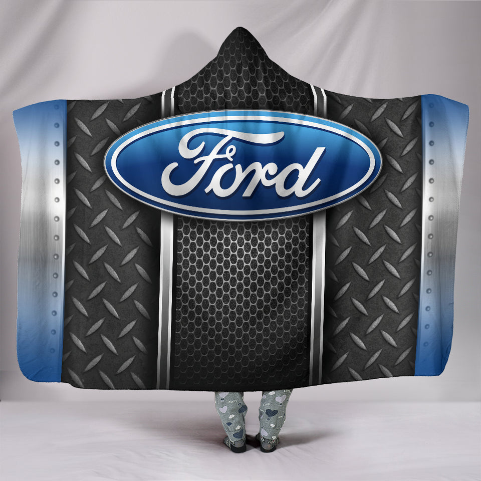 Ford Hooded Blanket Blue With FREE SHIPPING TODAY!