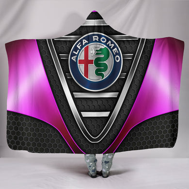 Alfa Romeo Hooded Blanket Pink With FREE SHIPPING TODAY!