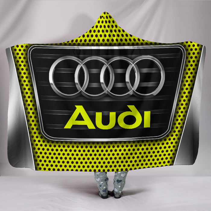 Audi Hooded Blanket Yellow With FREE SHIPPING TODAY!
