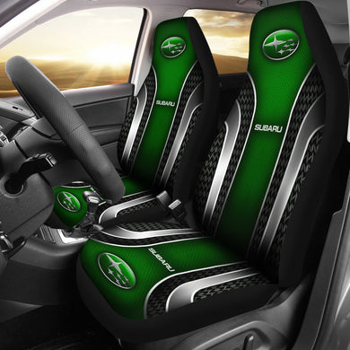 2 Front Subaru Seat Covers Green With FREE SHIPPING TODAY!