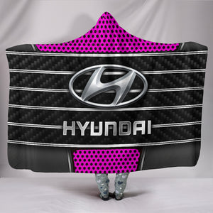 Hyundai Hooded Blanket Pink With FREE SHIPPING TODAY!