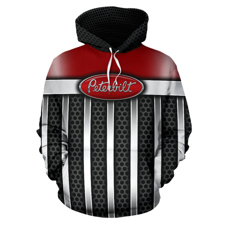 Peterbilt All Over Print Hoodie With FREE SHIPPING TODAY!