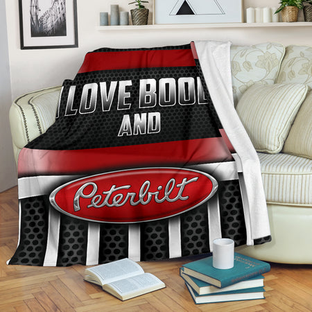 I Love Boobs And Peterbilt Blanket With FREE SHIPPING!