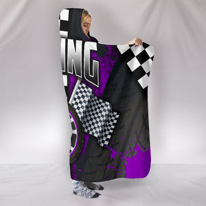 Racing Hooded Blanket Purple With FREE SHIPPING TODAY!