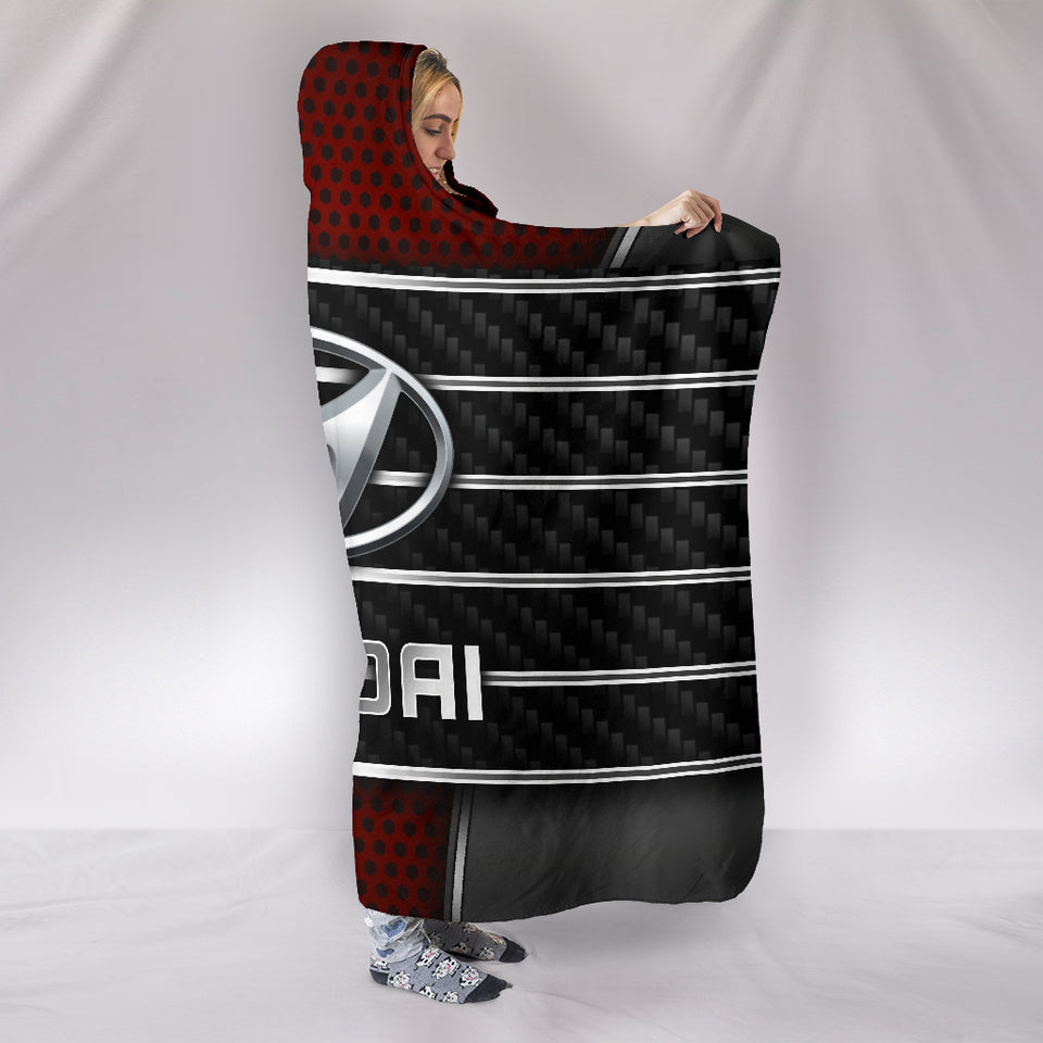 Hyundai Hooded Blanket Red With FREE SHIPPING TODAY!