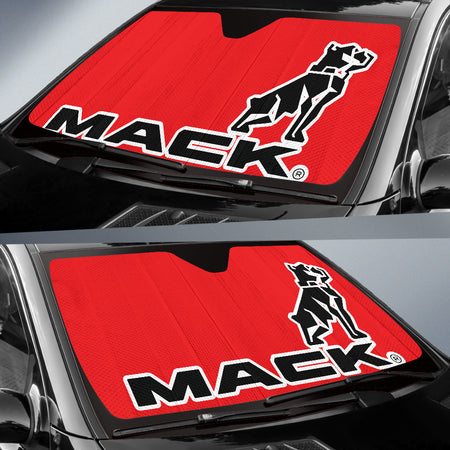 Mack Windshield Sun Shade Red