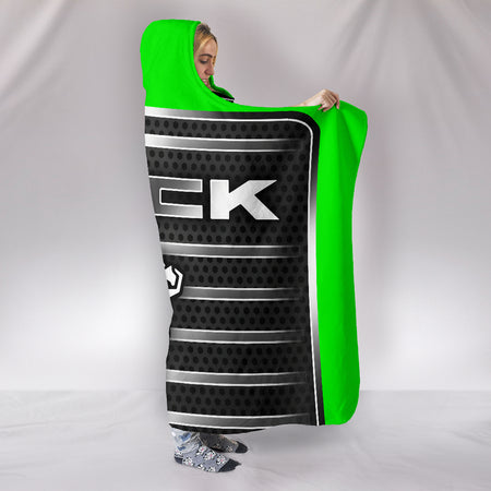 Mack Hooded Blanket Green With FREE SHIPPING TODAY!