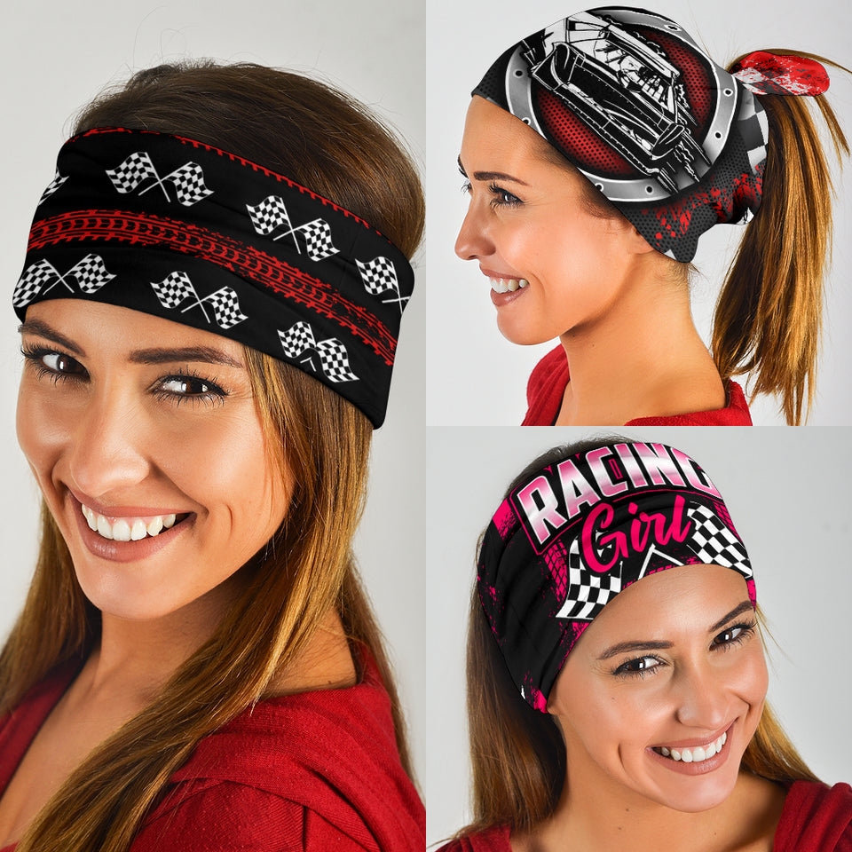 3 Pack Racing Bandanas With FREE SHIPPING!