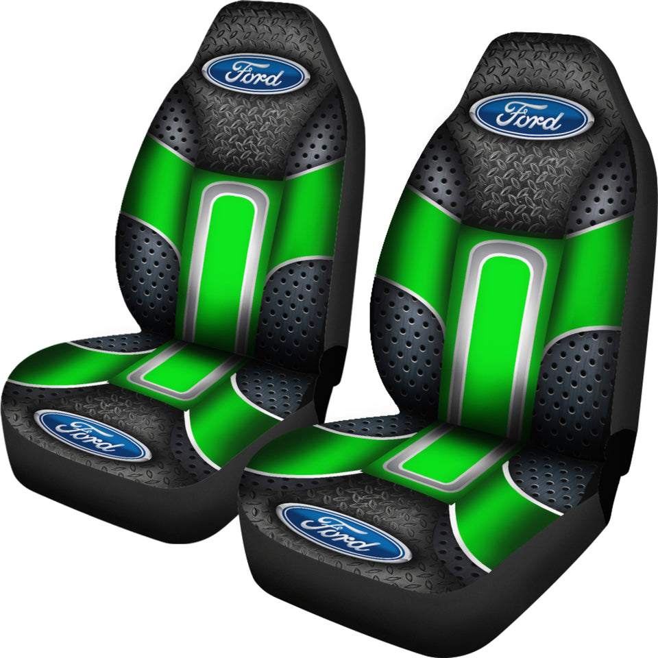 Ford 2 Front Seat Covers Green With FREE SHIPPING TODAY!