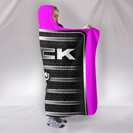 Mack Hooded Blanket Pink With FREE SHIPPING TODAY!