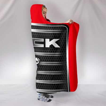 Mack Hooded Blanket Red With FREE SHIPPING TODAY!