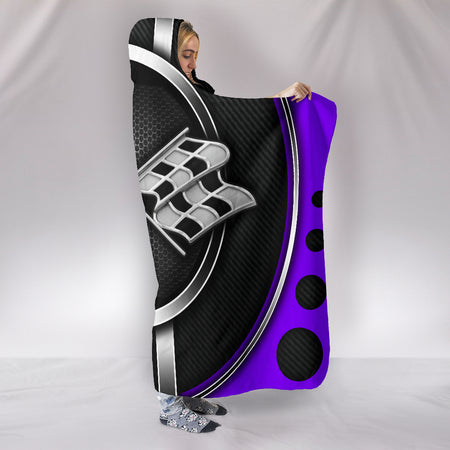 Corvette C3 Hooded Blanket Purple With FREE SHIPPING TODAY!