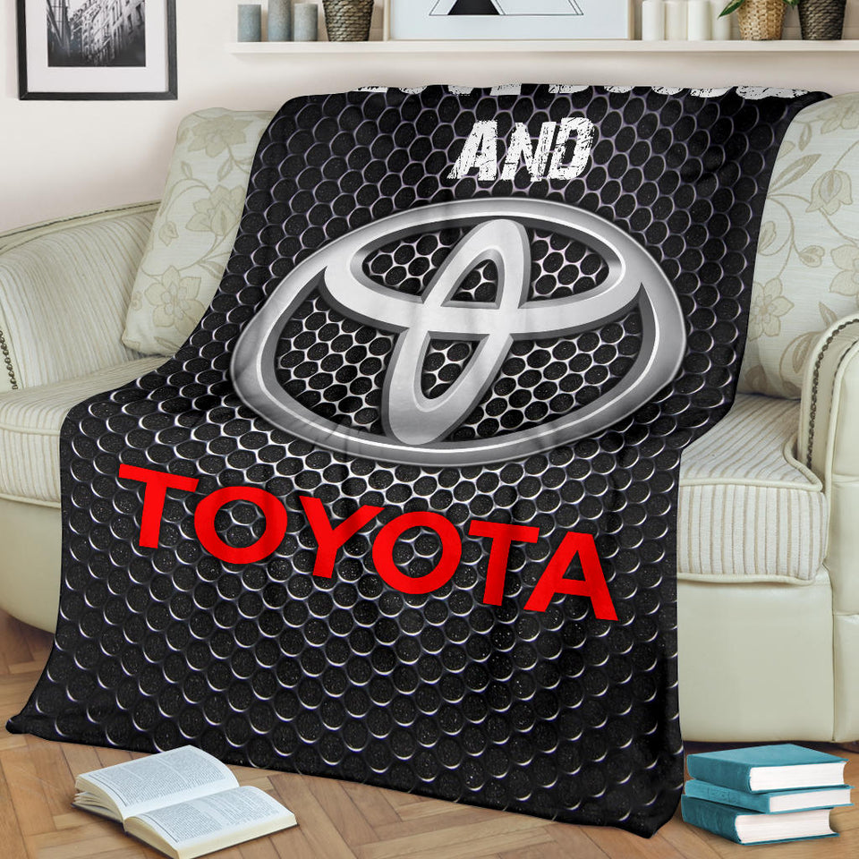 I Love Boobs And Toyota Blanket With FREE SHIPPING!