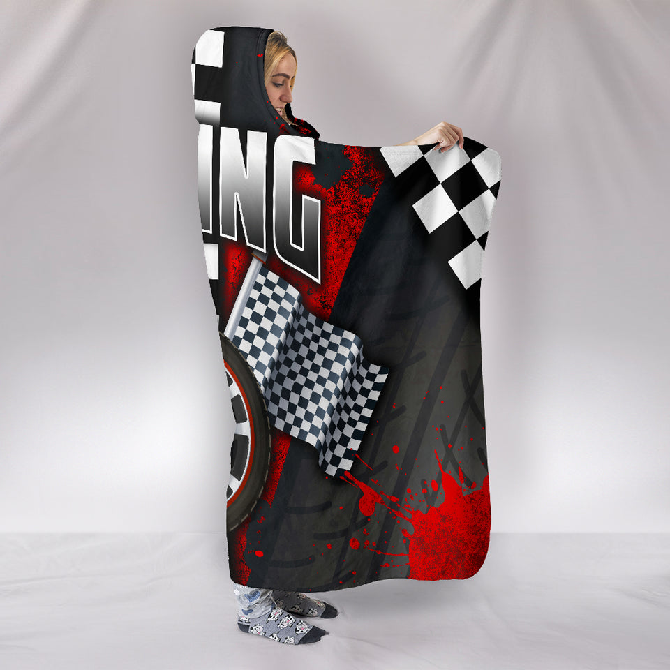 Racing Hooded Blanket Red With FREE SHIPPING TODAY!