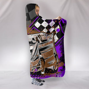 Dirt Track Racing Hooded Blanket Purple With FREE SHIPPING TODAY!