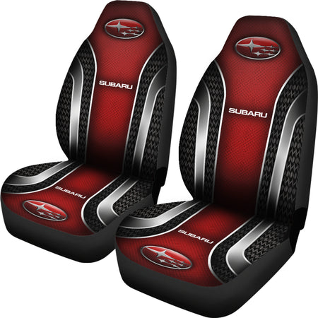2 Front Subaru Seat Covers Red With FREE SHIPPING TODAY!