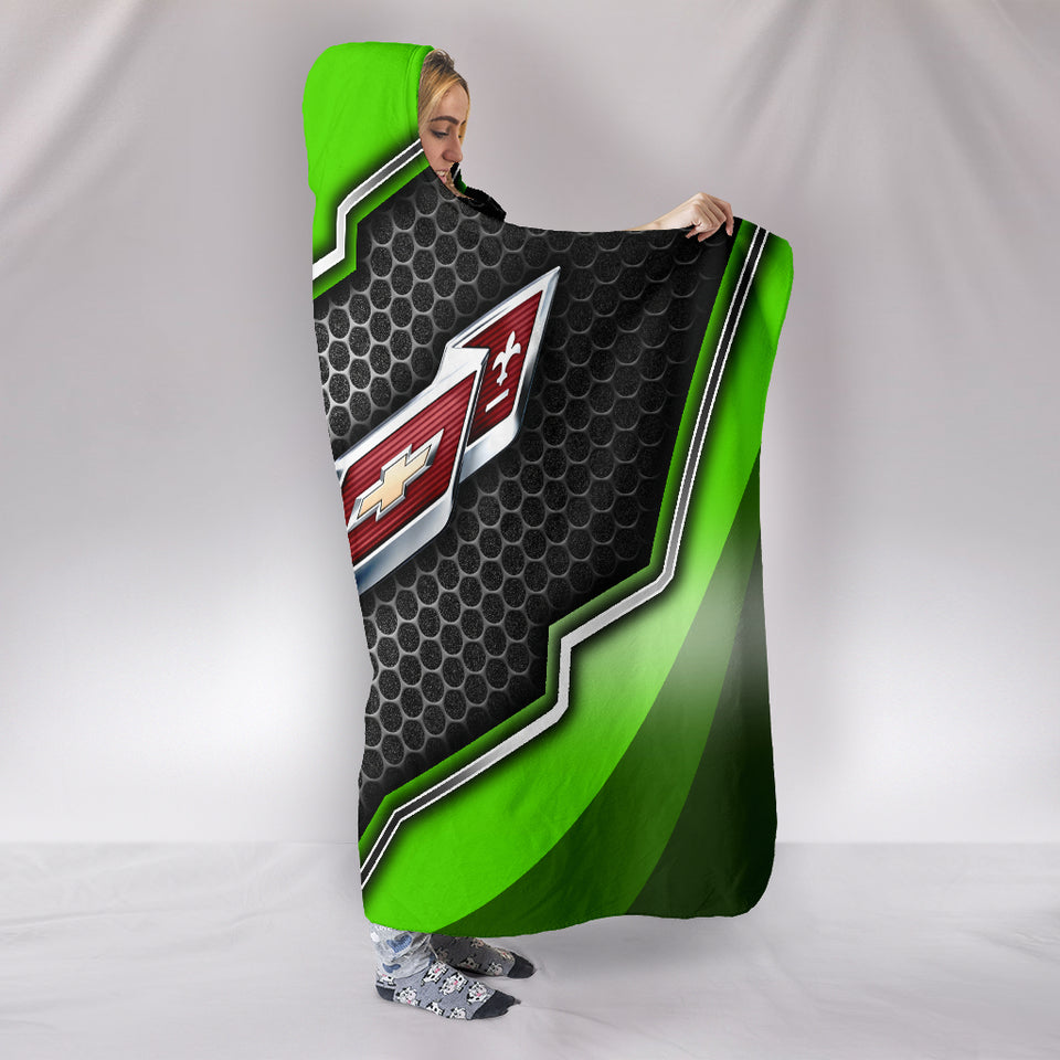 Corvette C7 Hooded Blanket Green With FREE SHIPPING TODAY!