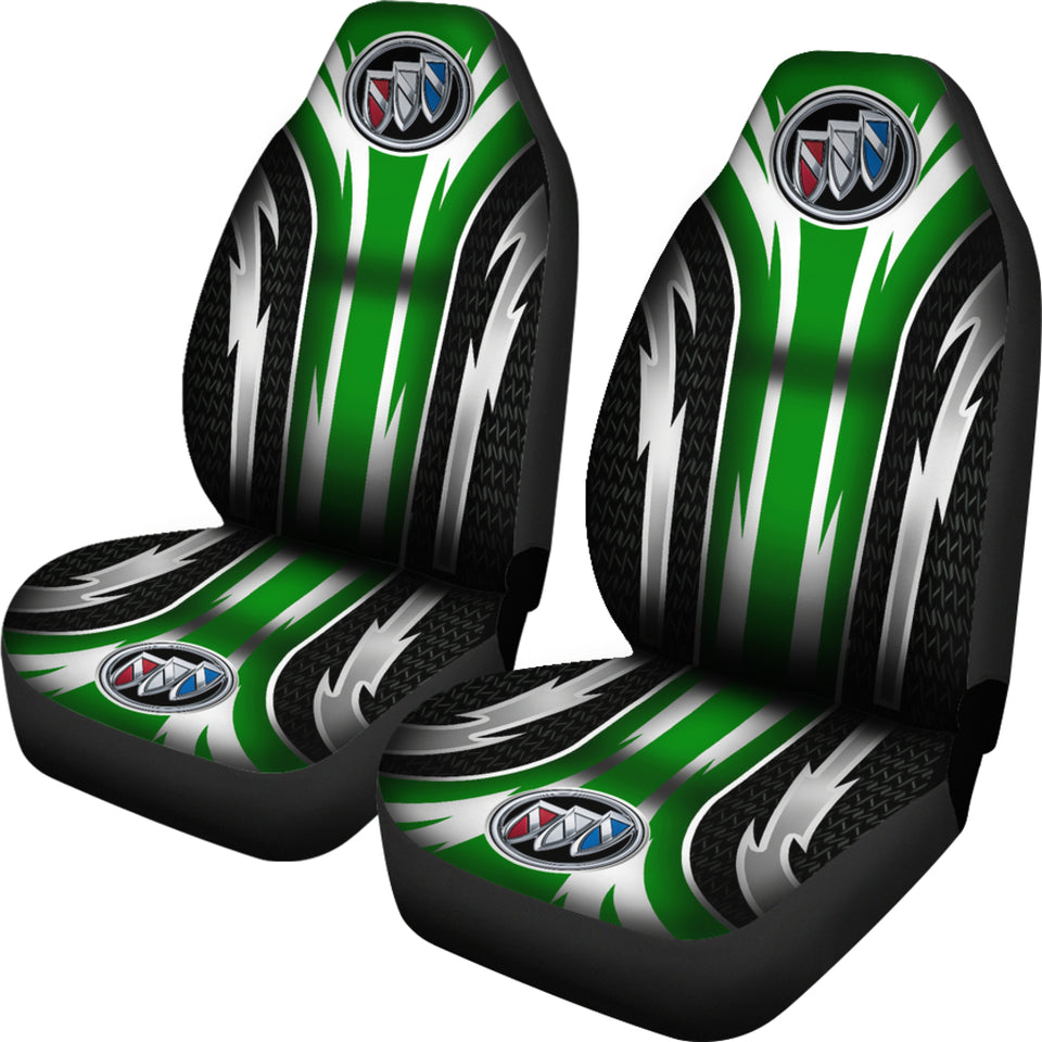 2 Front Buick Seat Covers Green With FREE SHIPPING