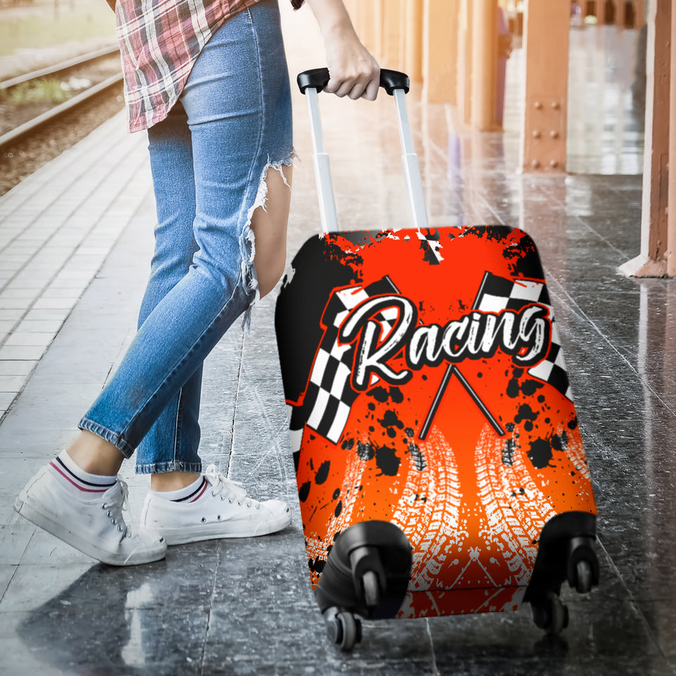 Racing Luggage Cover Orange With FREE SHIPPING!