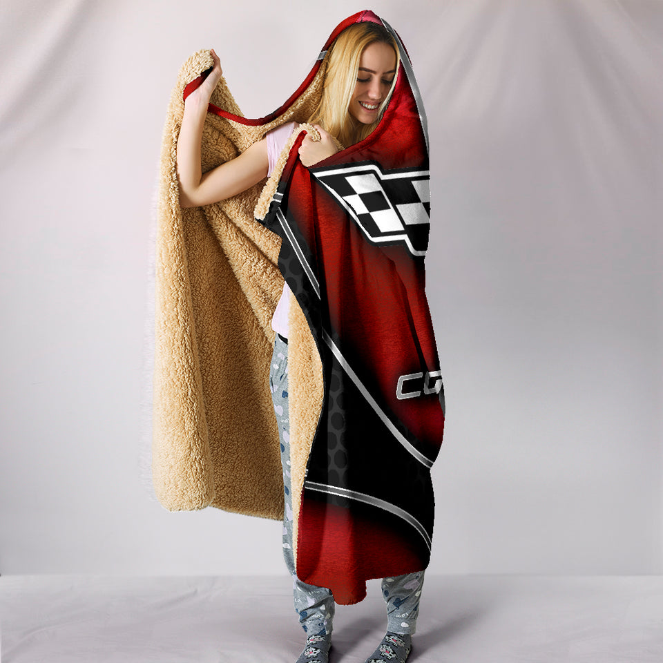 Corvette C6 Hooded Blanket Red With FREE SHIPPING TODAY!