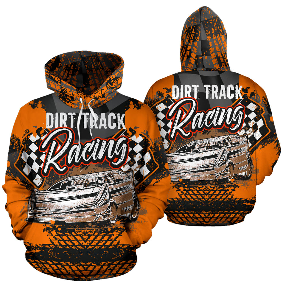 Dirt Track Racing Hoodie With Express Shipping