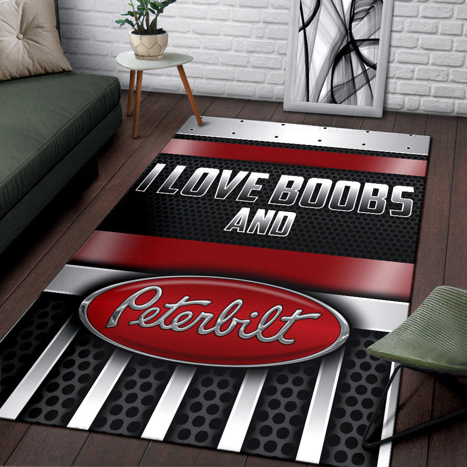 I Love Boobs And Peterbilt Rug With FREE SHIPPING!