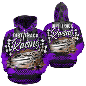 Dirt Track Racing Hoodie Purple With Express Shipping!