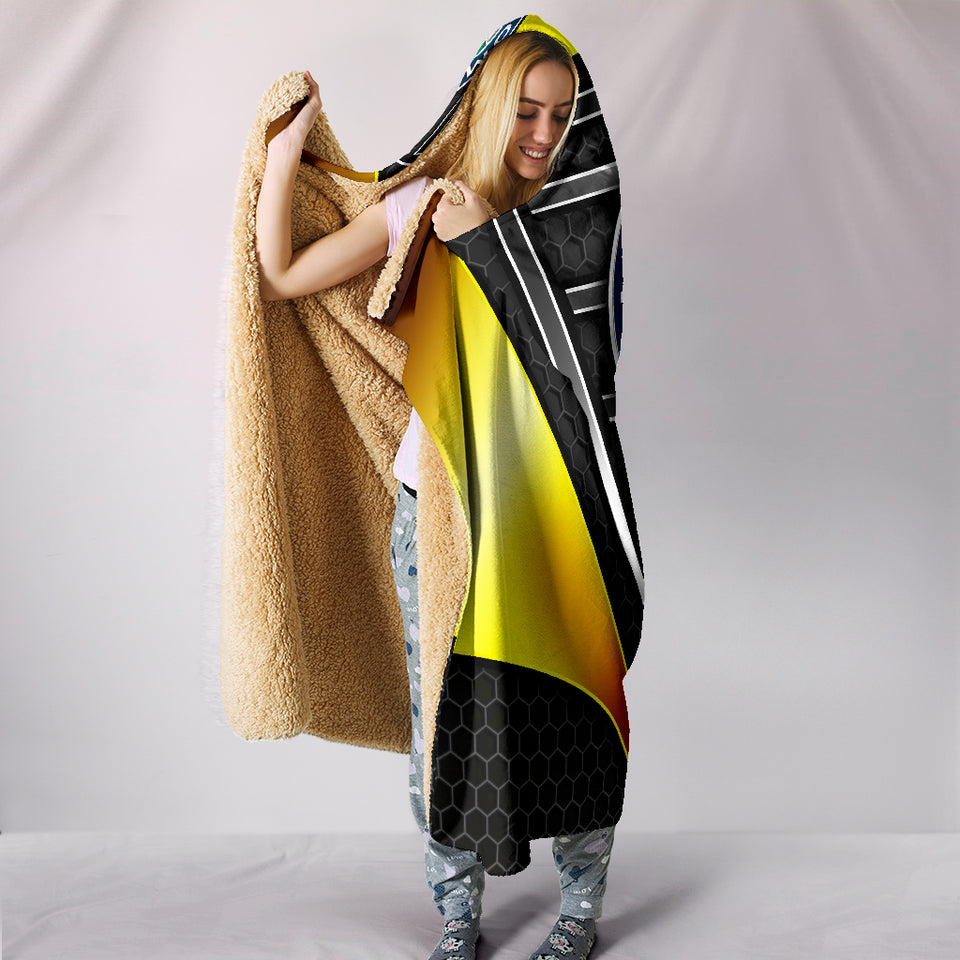 Alfa Romeo Hooded Blanket Yellow With FREE SHIPPING TODAY!