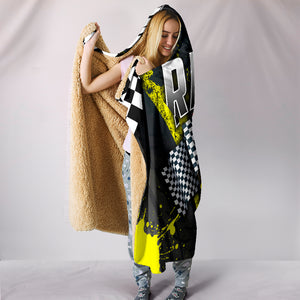 Racing Hooded Blanket Yellow With FREE SHIPPING TODAY!